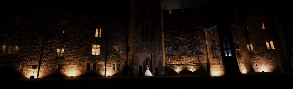Peckforton Castle weding night