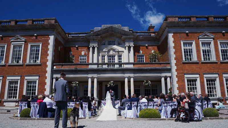Eaves Hall Outdoor Wedding Ceremony