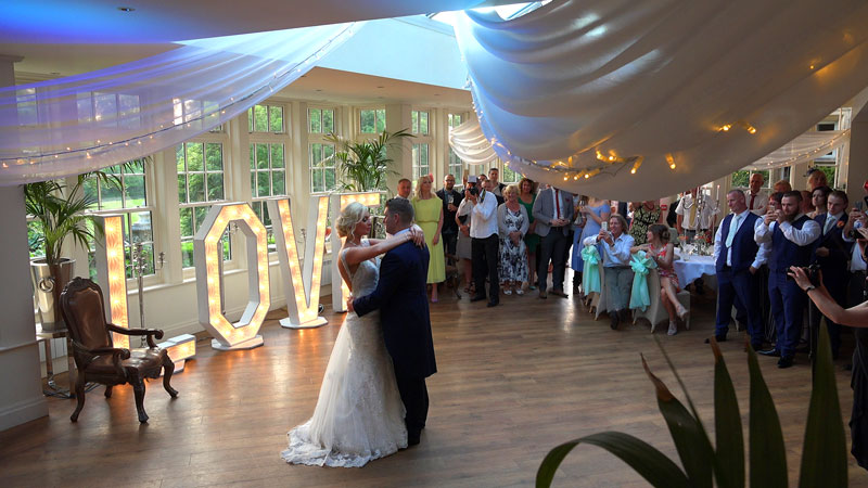 Mitton Hall Wedding First Dance Dan and Sam