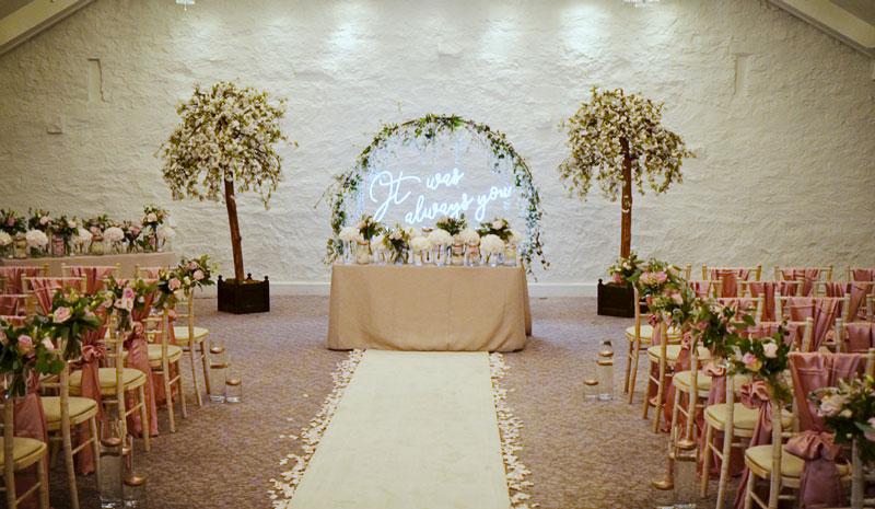 Stanley House Hotel Wedding Ceremony Room